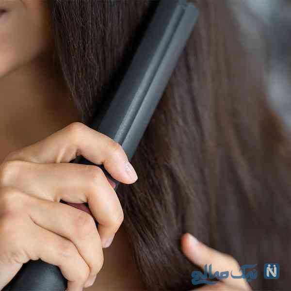 صاف کردن موی فر