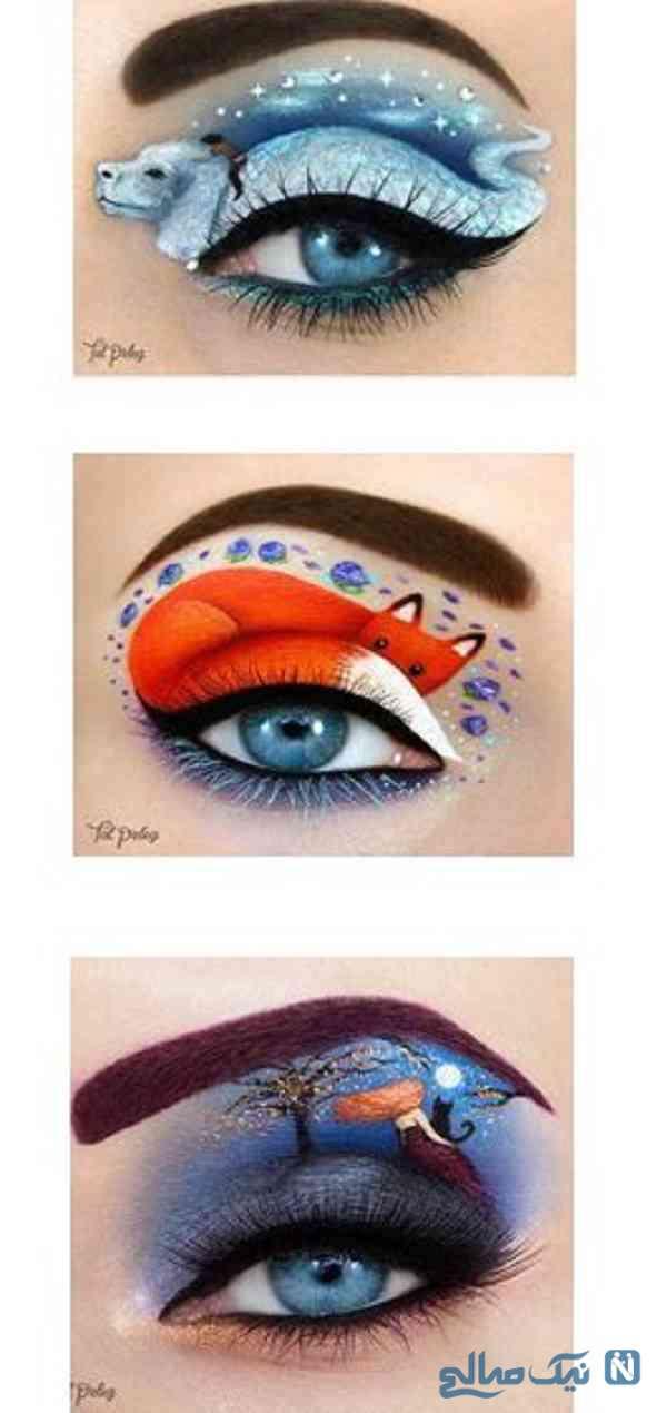 نقاشی روی چشم