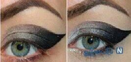 آموزش مرحله به مرحله آرایش چشم گربه ای مخصوص زمستان !+عکس