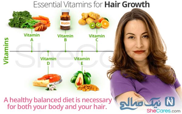 ویتامین برای بلند شدن مو