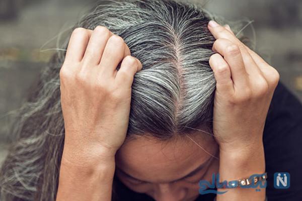 چگونه می توانیم موی سفید خود را بدون رنگ کردن مشکی کنیم!!