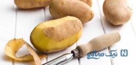 ماسک مو برای جوانسازی موها با پوست سیب زمینی!