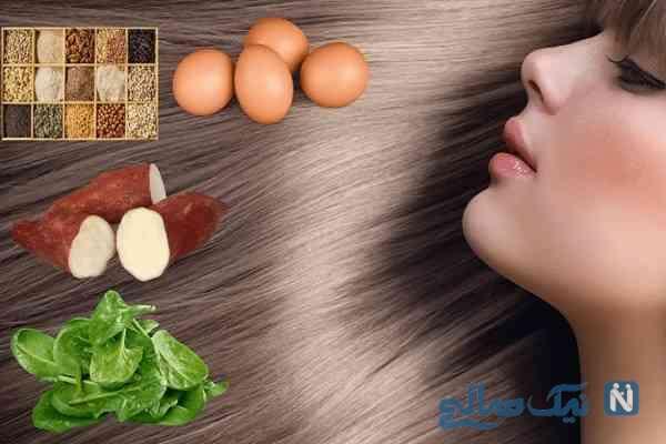 مواد مغذی و ویتامین های لازم برای سلامت مو