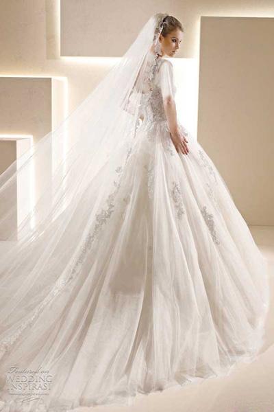 اینگونه در لباس عروسی لاغرتر به نظر برسید+عکس