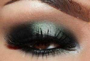 آموزش آرایش چشم به رنگ سبز و دودی + تصاویر