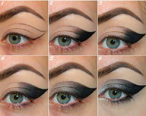 آموزش مرحله به مرحله آرایش چشم گربه ای مخصوص زمستان ۲۰۱۶!+عکس