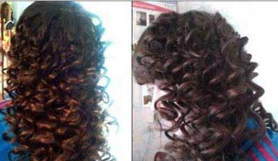 آموزش تصویری فر کردن سریع موها ر خانه بدون دستگاه