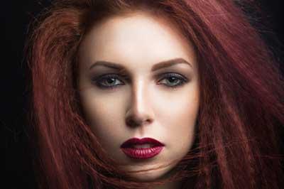 هماهنگی بین موها و آرایش صورت
