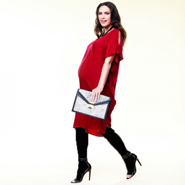 پوشش مناسب بارداری برای جذابیت بیشتر در مهمانی!