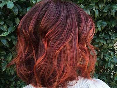 رنگ موی نارنجی