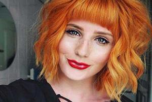 رنگ موی نارنجی برای خانم هایی که به دنبال چهره ای متفاوت هستند!