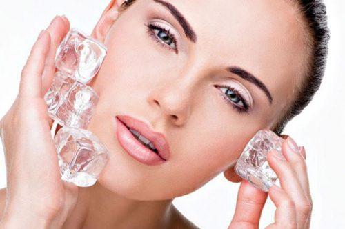 فواید یخ برای پوست