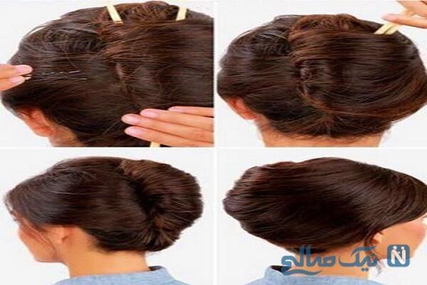 آموزش تصویری درست کردن یک مدل موی آسان+تصاویر