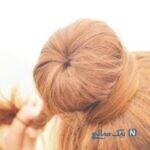 آموزش مدل موی جمع به شکل دونات + تصاویر