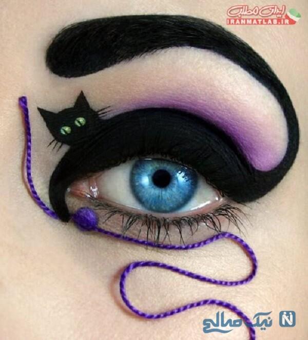 مدل سایه چشم های عجیب