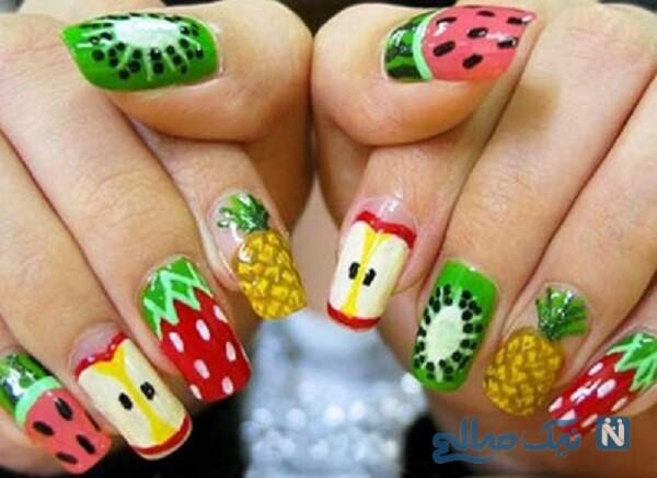 طراحی ناخن با طرح میوه