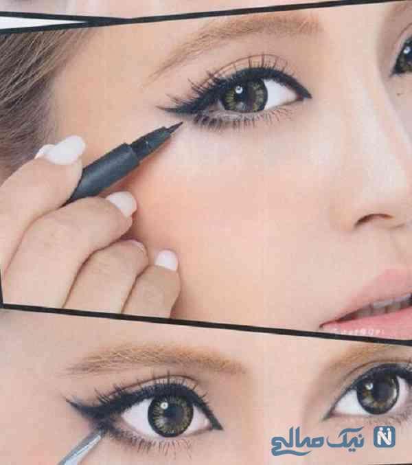 آرایش درشت کردن چشم
